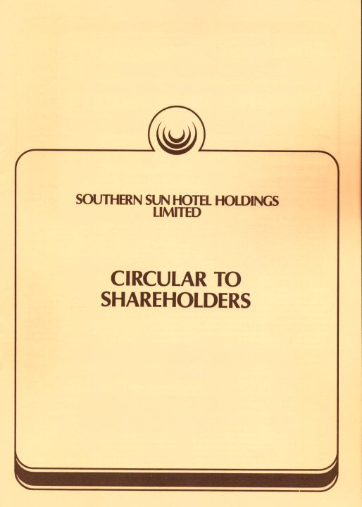 Southern Sun Hotel Holdings August Circular To Members On Listing Of Shares
