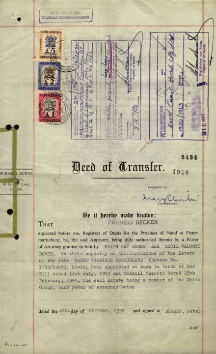 Beverly Hills Deed Of Transfer, Lot 257