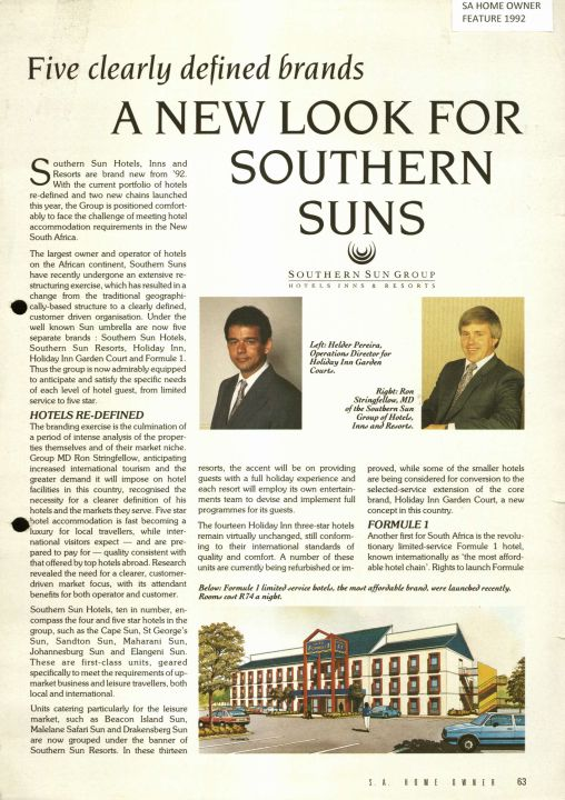 SA Home Owner mag: A New Look For Southern Sun