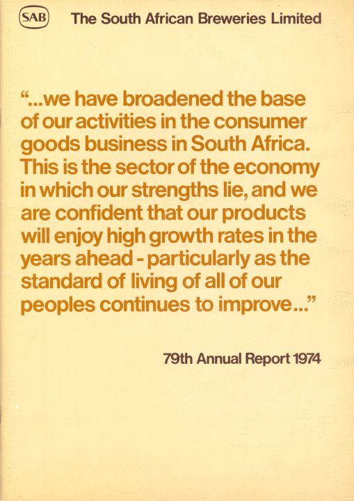 South African Breweries - 79th Annual Report 1974