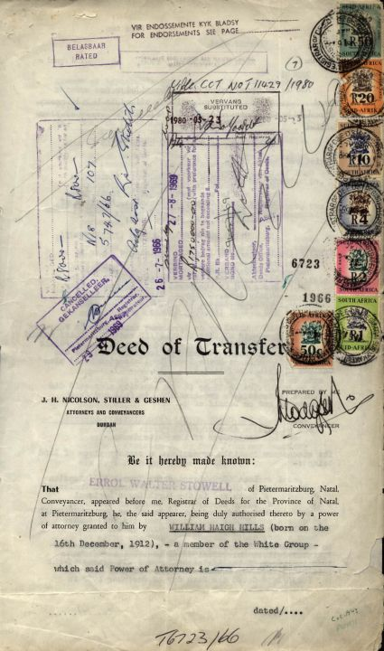 Beverly Hills Deed Of Transfer, Lot 260,255