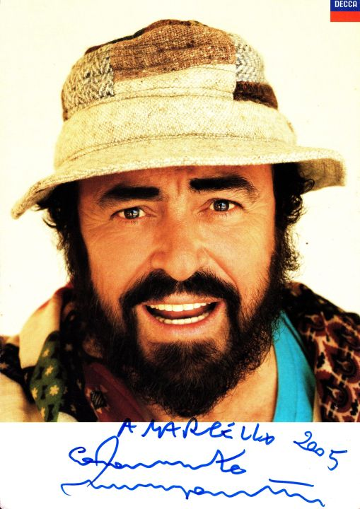 Luciano Pavarotti message to Marcel von Aulock, CEO Tsogo Sun