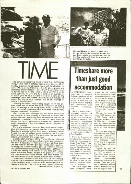 Timeshare Report By Owners
