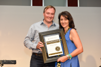 Tsogo Sun Head Office Long Service Awards:30 Years Beverley Wallace, Presented by Marcel von Aulock, CEO Tsogo Sun